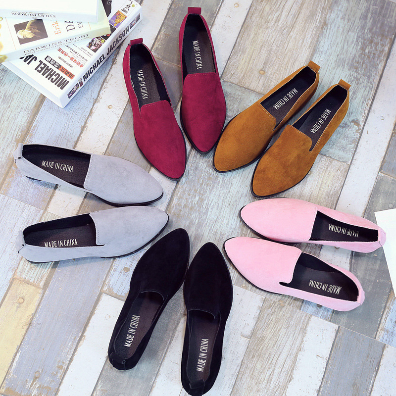 Spring new solid color pointed toe shoes...