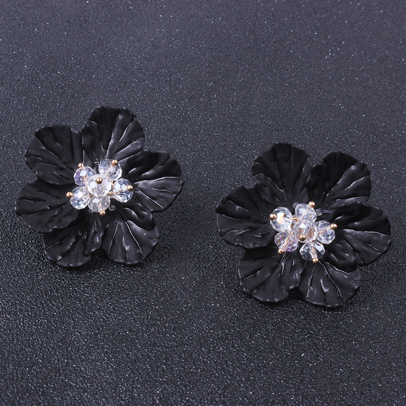 Alloy Fashion Flowers earring  (blue) NHNMD4652-blue