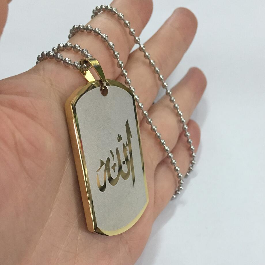 Stainless steel letter necklace NHKN314988