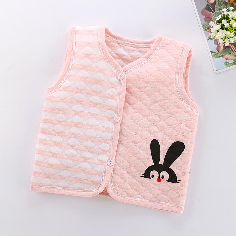 2020初春新款兒童棉馬甲 純棉兒童開衫背心嬰兒保暖馬甲一件代發