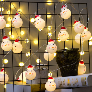 Snowman Christmas lights led lights string wire for home decoration xmas New Year holiday lights battery box Christmas lights string