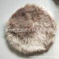 廠家批發定制長毛絨客廳臥室地毯歐式白色仿羊毛圓形地毯地墊代發