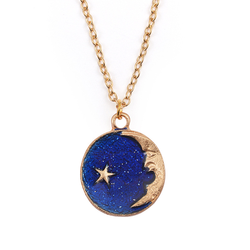 Blue star earrings long asymmetric earrings wholesale fashion NHDP178230