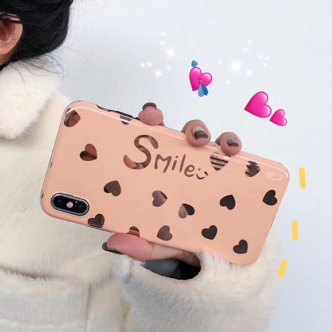 Simple smiley face for Apple mobile phone shell 7p tide brand female iPhone6sp/8plusXSmax mobile phone shell soft shell