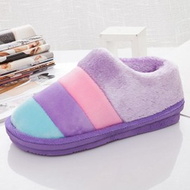 Cotton slippers in winter indoor full heel anti-skid plus code home ladies cotton slippers to protect the household