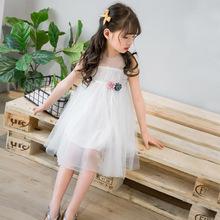 童装女童连衣裙夏装2018新款无袖网纱裙儿童夏季韩版洋气公主风裙