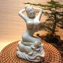 粉压象牙果雕刻裸美女手把件创意工艺品车摆件仕女郎女艺术品