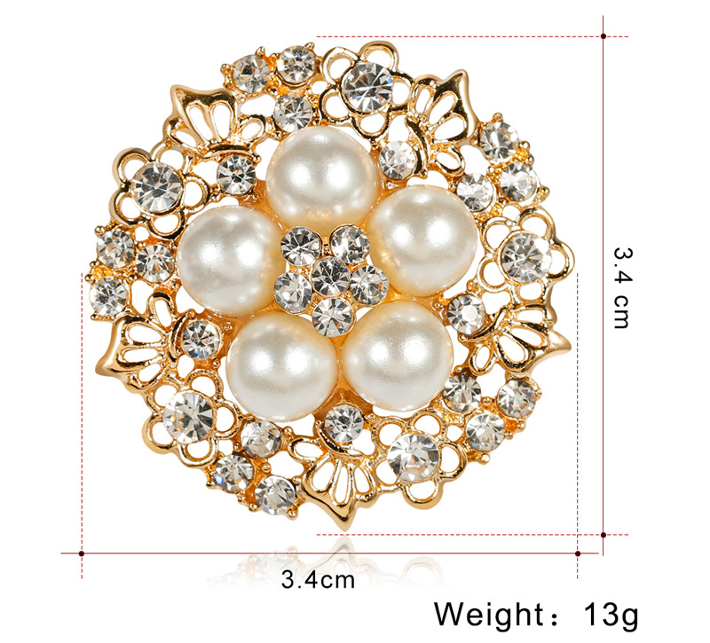 Alloy Korea Flowers brooch  (AA098-A) NHDR2378-AA098-A
