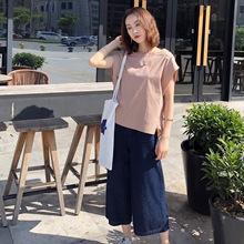 韩版廓形高支数弹力棉无袖上衣休闲家居女装