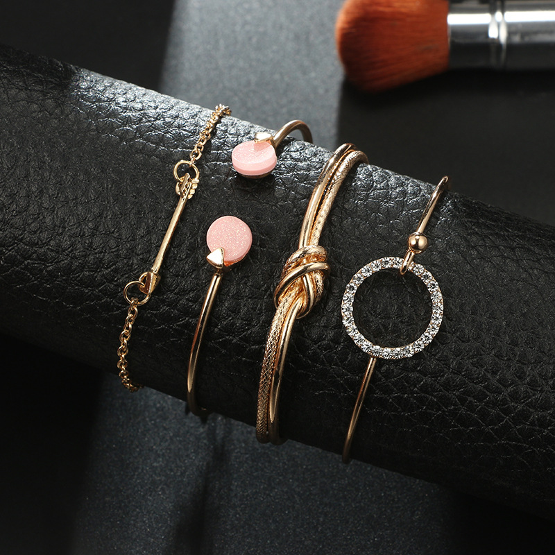 Alloy Fashion Geometric bracelet  (Alloy) NHGY2610-Alloy