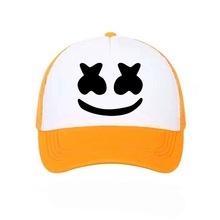 速賣通熱賣帽子棒球帽網帽夏季男女情侶遮陽帽印花笑臉表情圖案