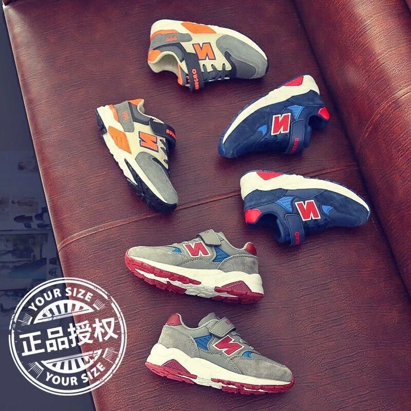 品牌韩版童鞋男童运动鞋2019秋冬休闲网布N字运动儿童中大休闲鞋