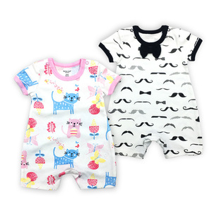 Manufacturers wholesale short-climb foreign trade one-piece clothes newborn short-sleeved romper baby romper summer children's clothing