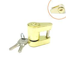 """1/4""""小型拖车锁/黄色/trailer coupler lock挂车锁房车锁拖车配件"""