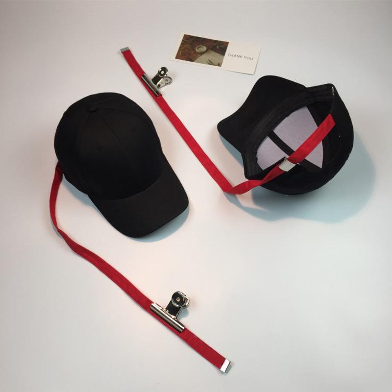 帽子女冬韩版GD权志龙同款夹子超长调节带子棒球帽情侣弯檐鸭舌帽