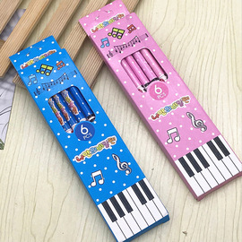 Creative Piano Notes Cartoon Pencil Children Writing HB Wooden Pencils Kindergarten Learning Supplies Gift Prize