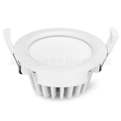 深圳3寸LED筒灯厂家批发价格 3寸高端压铸12W贴片LED筒灯开孔95mm
