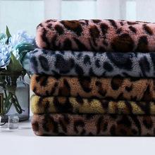 秋冬 兔絨豹紋印花面料  服裝鞋帽圍巾絨布面料 數碼印花豹紋絨布