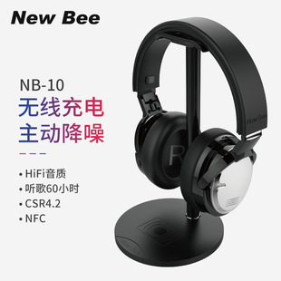 New head-mounted bluetooth headset ANC active noise reduction wireless headset Ultra-long standby wireless charging headset