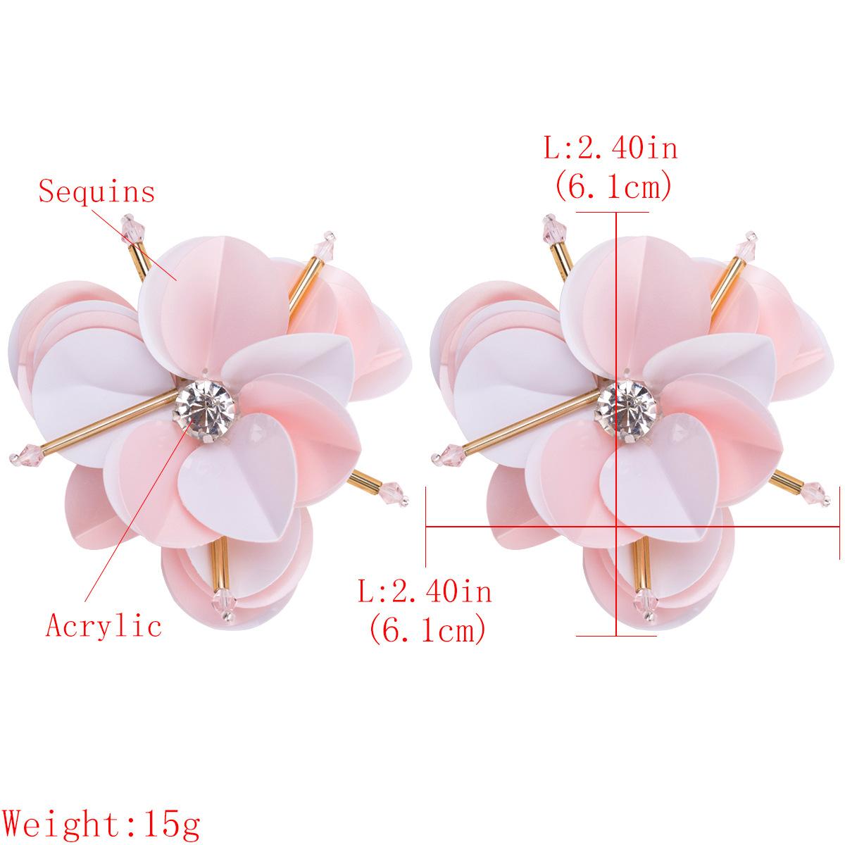 Alloy Fashion Flowers earring  (Pink) NHJE1533-Pink