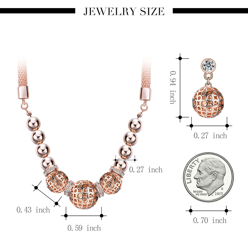 Alloy Korea  necklace  (61172414 rose alloy) NHXS1785-61172414-rose-alloy