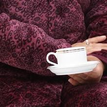 新款中老年人夹棉睡衣女加厚秋冬季袄加棉?#20808;?#22920;妈家居服套装