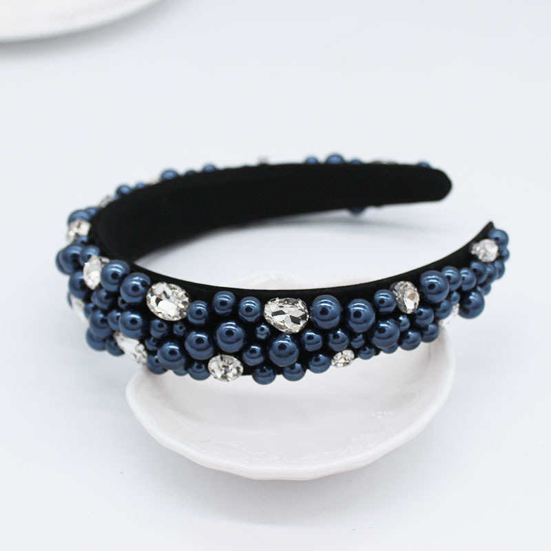 Fashion headband handmade jeweled rice beads multicolor wild casual travel hair accessories NHWJ179772