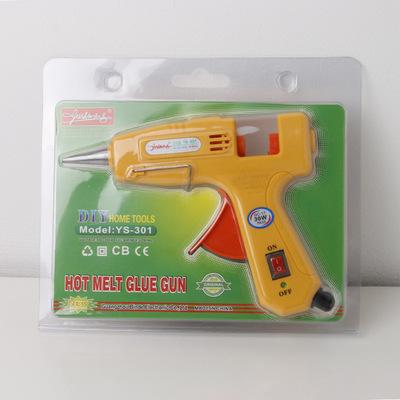 热熔胶枪厂家直销御士峰YS-301 30W小热熔胶枪用7MM胶条胶棒粘胶