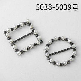 Popular style ribbon buckle alloy pearl accessories shoes and clothing bag diy jewelry accessories 5038 ≤ 5039