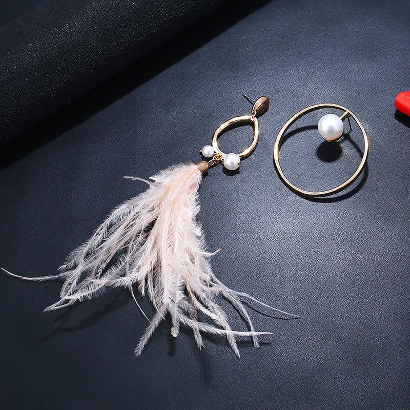 4d44c2ea1fdd Pendientes de perlas de plumas temperamento populares europeos y ...