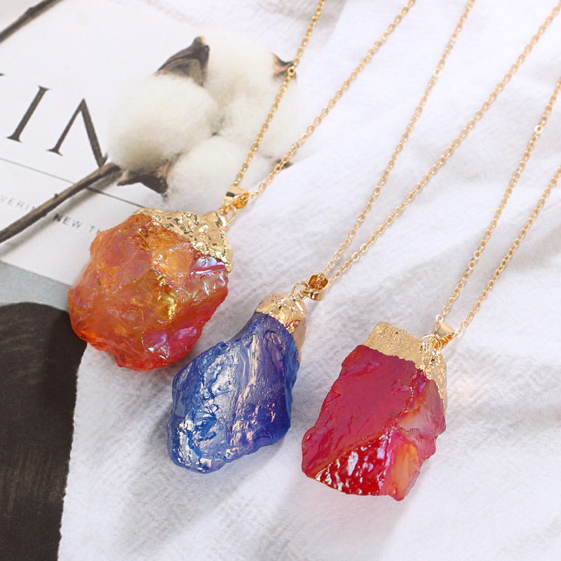 Natural Stone Fashion  necklace NHGY1006-red