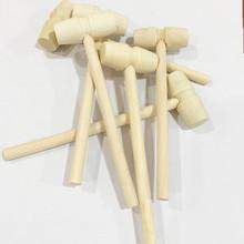 厂家直销实木迷你小木槌敲星球蛋糕木锤 儿童平头玩具现货小锤子