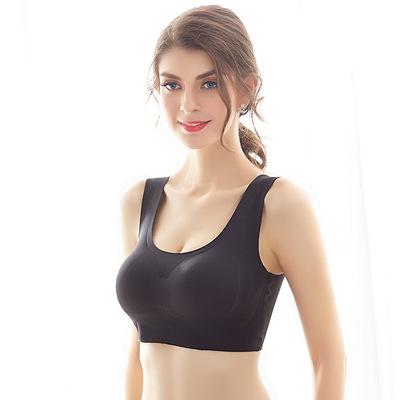 日本运动背心无痕内衣无钢圈跑步瑜伽薄款睡眠防外扩文胸聚拢胸罩
