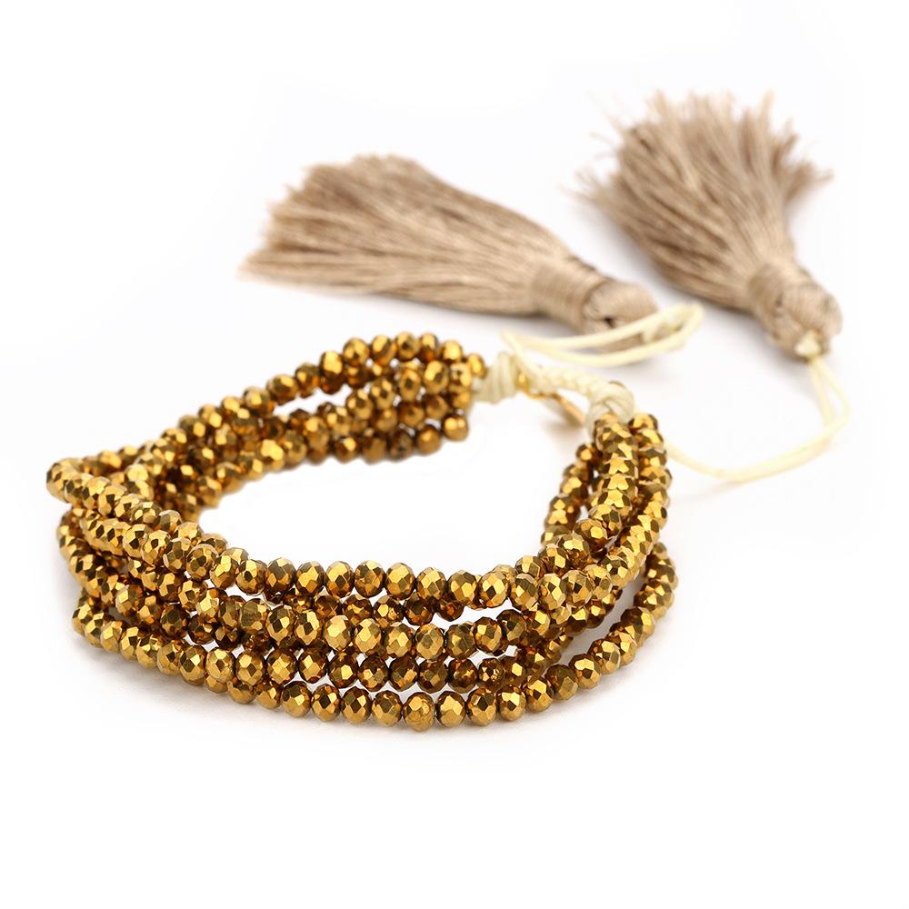 Crystal&CZ Fashion Tassel bracelet(B-B0568-D) NHGW1022-B-B0568-D