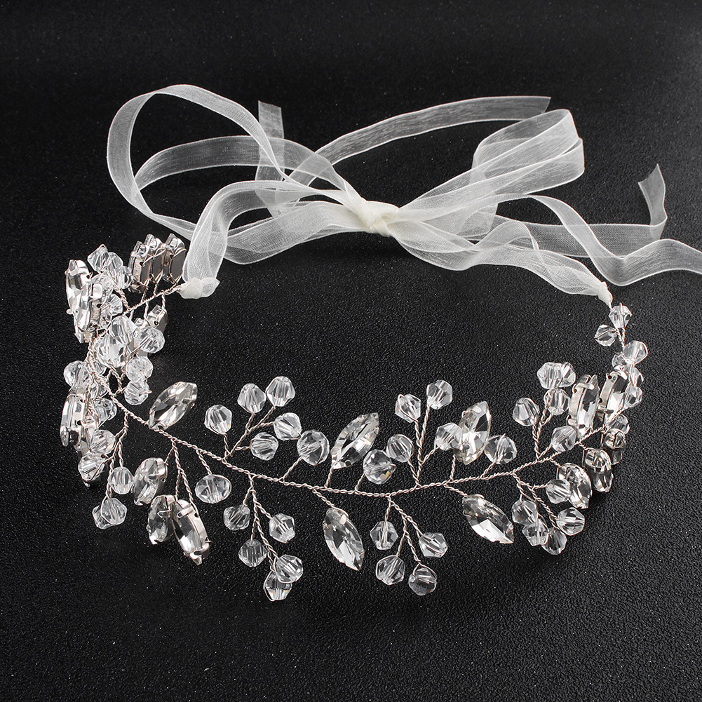 Imitated crystal&CZ Fashion Geometric Hair accessories  (Alloy) NHHS0498-Alloy