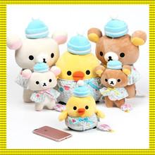 东京塔晴空塔松驰熊公仔贝壳熊变身轻松小熊猫马卡龙毛绒娃娃玩偶