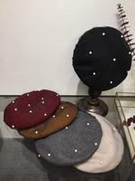 Цоколь с жемчужинами овечья шерсть Твердый цвет зимний все один Аксессуары для одежды Гуанчжоу шапка Популярный аутентичный лавочник рекомендован