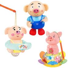 Âm thanh rung đồ chơi đèn rong biển lợn đồ chơi điện gian hàng đồ chơi đền công bằng đồ chơi năm mới đèn lồng lợn đồ chơi mới Búp bê điện
