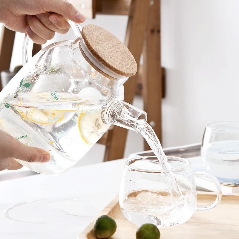 创意耐热玻璃冷水壶过滤花茶壶凉水壶杯茶具 大容量水具套装