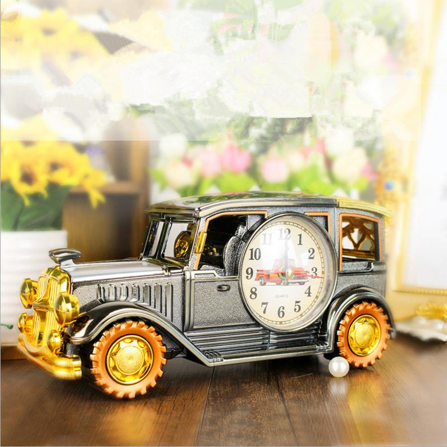 廠家直銷 復古老爺車模型多功能  筆筒 創意鬧鐘一體創意禮品