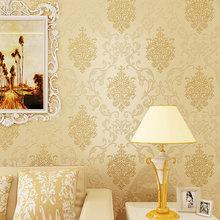 欧式3d奢华金色无纺布壁纸 客厅卧室酒店宾馆服装店墙纸高档洒金
