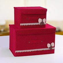 hộp lưu trữ dệt xong hộp hộp lưu trữ dưới gầm giường vải có thể gập lại một thế hệ các chất béo cài khuy hộp lưu trữ đồ chơi Hộp lưu trữ