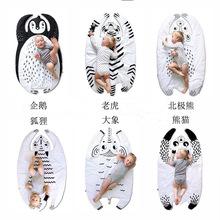 ins外贸家居儿童爬行垫宝宝动物几何卡通纯棉游戏地毯地垫装饰