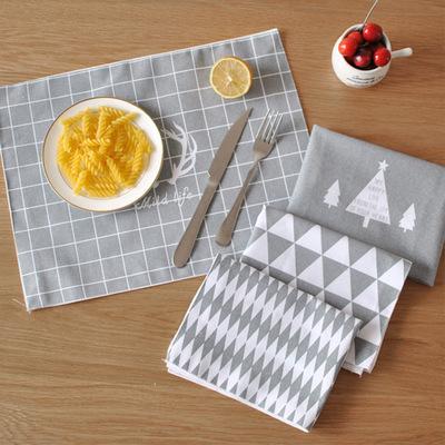 创意简约欧式棉麻餐垫布艺隔热垫碗垫子厨房杯垫牛排盘垫