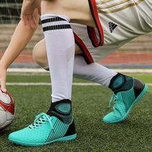 批发2018年秋季潮流男士高帮碎钉儿童学生训练耐磨足球鞋子外贸新