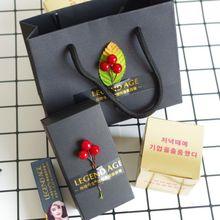 手工传奇今生金标红樱桃唇膏包装盒组合套装礼盒一套纸盒子加袋子