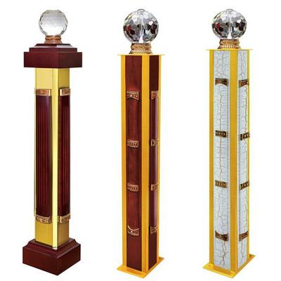 【在梯艺方】楼梯起步立柱铝镁合金扶手将军柱罗马柱开头柱6031