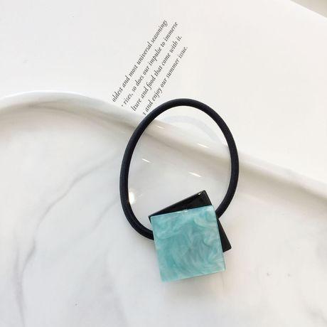 Ins vuông đặt sai vị trí ngọt ngào retro hình ngôi sao màu tóc dây Hàn Quốc Nhật Bản acetate headband cao su ban nhạc phụ kiện tóc