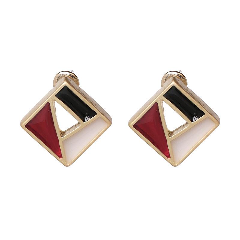 Alloy Fashion Geometric earring  (red) NHJJ5410-red