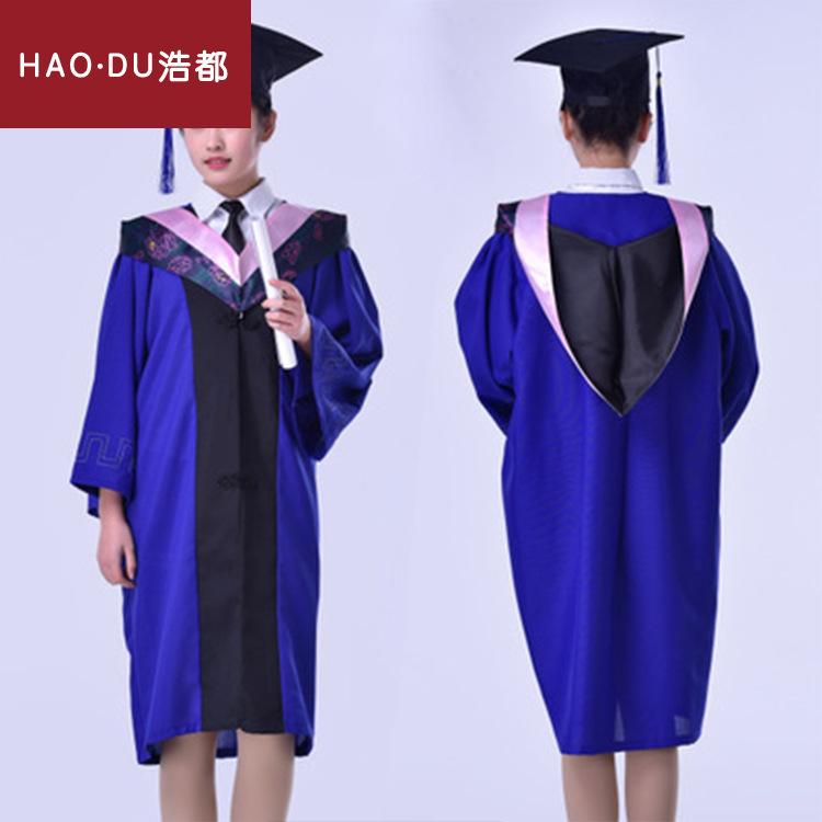 外贸批发硕士服研究生毕业礼服学士学位服含垂布和学士帽厂家定做